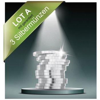 Lot A - Münz Inventurlot garantiert mit 3 Silbermünzen