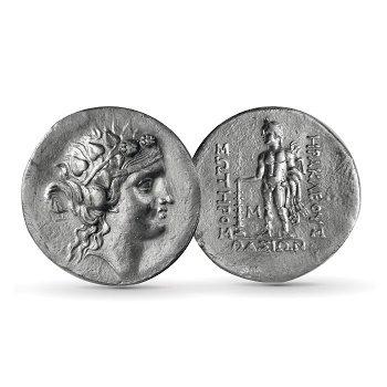 Dionysos - Silbermünze, Tetradrachme