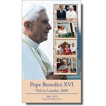Papst Benedikt XVI. besucht Lourdes 2008 - Briefmarken-Block postfrisch, Grenada