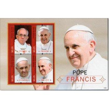 Papst Franziskus - Briefmarken-Block postfrisch, St. Vincent-Grenadinen