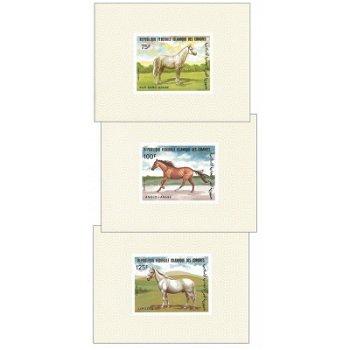 Pferderassen - 8 Luxusblocks postfrisch, Katalog-Nr. 699-706, Komoren
