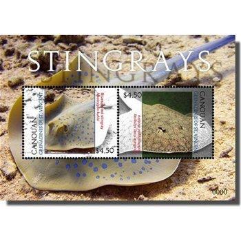 Stechrochen - Briefmarken-Block, St. Vincent und Grenadinen