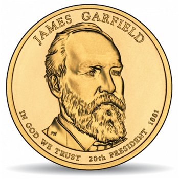 James A. Garfield, Präsidentendollar 2011, USA