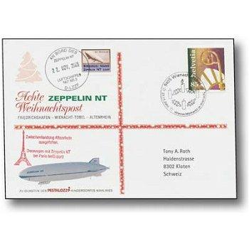 Zeppelin NT, Friedrichshafen - Wienacht-Tobel - Altenrhein - Weihnachtspost 2005, Beleg, Schweiz