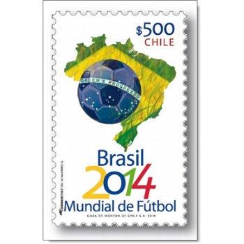 Fußball-Weltmeisterschaft - Briefmarke postfrisch, Chile