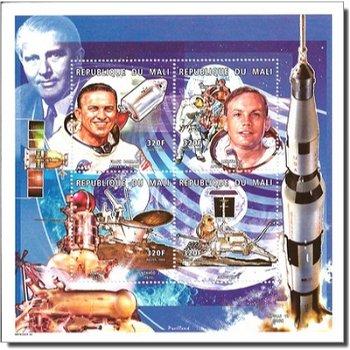 Apollo 11 / Neil Armstrong, Apollo 8 - Briefmarken-Kleinbogenblock postfrisch, Mali