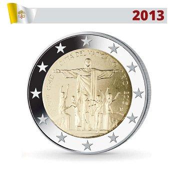 2 Euro Münze 2013, Weltjugendtag, Rio de Janeiro, Vatikan