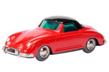 Blechspielzeug:Micro Racer 1047 Porsche 356 Coupé, rot-schwarz(Schuco)