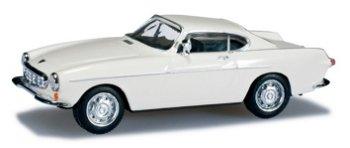 Modellauto:Volvo P 1800 Coupé, weiß(Herpa, 1:87)