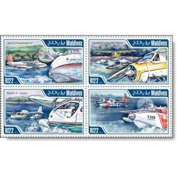 Flugzeuge - 4 Briefmarken postfrisch, Katalog-Nr. 4998 - 5001, Malediven