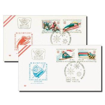 Olympische Winterspiele 1976, Innsbruck - Ersttagsbrief, Österreich