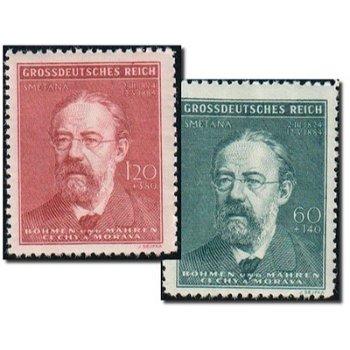 Friedrich Smetana - 2 Briefmarken postfrisch, Katalog-Nr. 138 - 139, Böhmen und Mähren