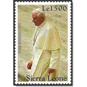 Papst Benedikt XVI. - Briefmarke postfrisch, Sierra Leone
