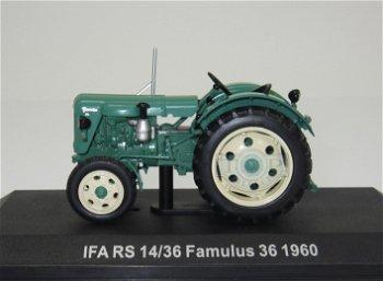 Modell-Traktor:IFA RS 14/36 Famulus 36 von 1960, grün(IXO, 1:43)