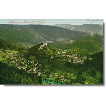 """6825 Schwarzburg - Postkarte """"Stadtansicht"""""""