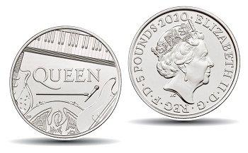 Großbritannien 5 Pfund Münze 2020 Rockband Queen