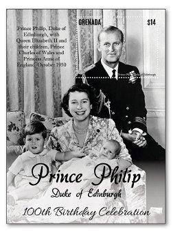 Prinz Philip - Block postfrisch, Grenada