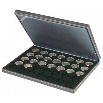 Nera Münzkassette M für 2 Euro Münzen gekapselt, Münzeinlage schwarz, Lindner 2364- 2530CE