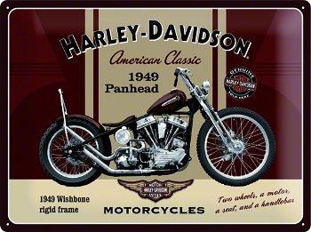 Blechschild:Harley-Davidson - Panhead -(Nostalgic Art, 40 x 30 cm)