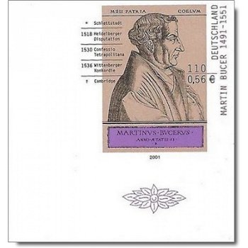 450th anniversary of the death of Martin Bucer, stamp mint never hinged, imperforated, catalog no. 2169 U, federal government