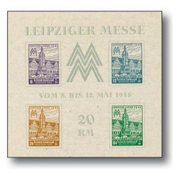 Leipziger Messe, Block 5x postfrisch, Katalog-Nr. 162-65, Sowjetische Zone West-Sachsen