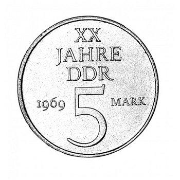 "5-Mark-Münze 1969 ""20 Jahre DDR"", DDR"