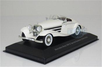Modellauto:Mercedes-Benz 500 K Spezial Roadster (W29) von 1934-1936, weiss(IXO, 1:43)