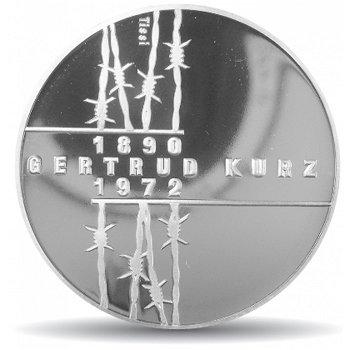 20. Todestag von Gertrud Kurz, 20 Franken Münze 1992 Schweiz, Stempelglanz