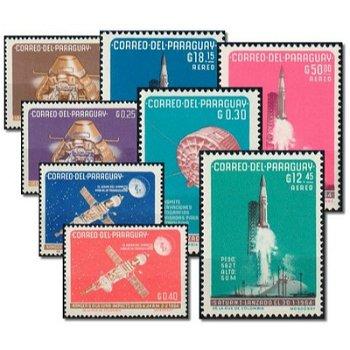 Amerikanische Raumfahrt - 8 Briefmarken postfrisch, Katalog-Nr. 1311-18, Paraguay