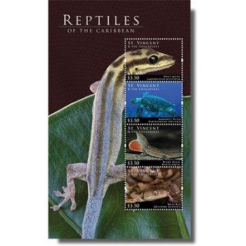 Reptilien - Briefmarken-Block postfrisch, St. Vincent & Grenadinen