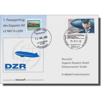 Zeppelin NT Post - 1. Offizieller Passagierflug Zeppelin NT Nr. 2 Bodensee, Deutschland