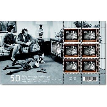 50 Jahre Mondlandung - Briefmarken-Kleinbogen postfrisch, Schweiz