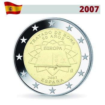 2 Euro Münze 2007, 50 Jahre Römische Verträge, Spanien