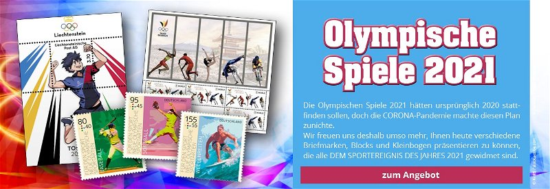 Olympiade 2021 in Tokio, Briefmarken, Münzen