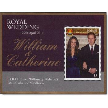 Königliche Hochzeit William und Kate - Briefmarken-Block, Kiribati