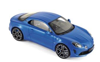 Modellauto:Alpine A110 Première Edition 2017, blau-metallic(Norev, 1:18)