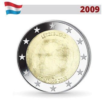 2 Euro Münze 2009, Wirtschafts- und Währungsunion, Luxemburg