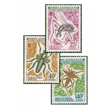 Insekten der Antarktis - 3 Briefmarken postfrisch, Katalog-Nr. 71-73, TAAF