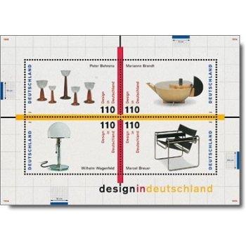 Design in Deutschland, Block 45 postfrisch, Katalog-Nr. 2001-04, Bundesrepublik