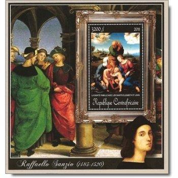 """Raffael """"Heilige Familie mit Elisabeth und Johannes dem Täufer"""" - Briefmarken-Block postfr"""
