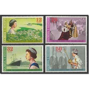 25 Jahre Regentschaft von Königin Elisabeth II. – vier Briefmarken postfrisch, Katalog-Nr. 346-349,