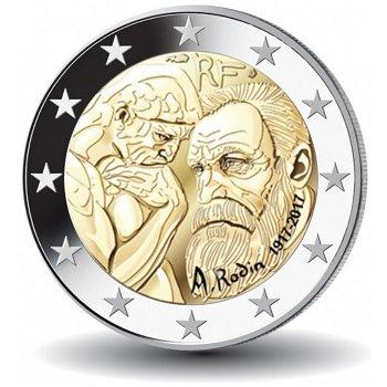 Auguste Rodin, 2 Euro Münze 2017, Frankreich