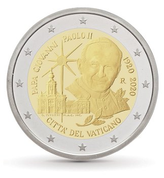 100. Geburtstag Papst Johannes Paul II. - 2 Euro Münze, Vatikan