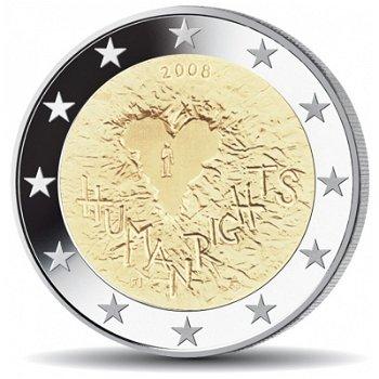 2 Euro Münze 2008, 60 Jahre Menschenrechte, Finnland