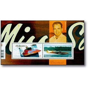 50 Jahre Miss Supertest III - Briefmarken-Block postfrisch, Canada