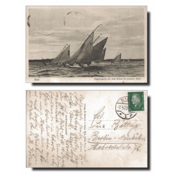 2300 Kiel - Postcard & quot; Sailing Regatta & quot;