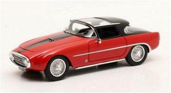 Modellauto:Louwman Museums CollectionFiat 8V Vignale - Démon Rouge - von 1954, rot/schwarz(Matrix, 1