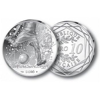 Fußball EM in Frankreich, 10 Euro Silbermünze, Frankreich
