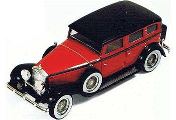 Modellauto:Minerva AL von 1930, rot/schwarz(IXO Museum, 1:43)