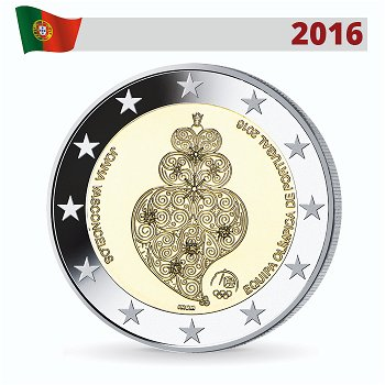 Sommerspiele 2016 Rio, 2 Euro Münze 2016, Portugal